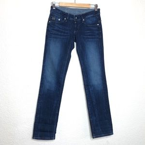 G-Star Low Rise Boot Cut Dark Wash Jeans Size 25
